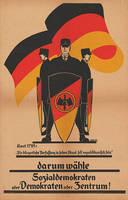 Reichsbanner Schwarz-Rot-Gold poster by YamaLama1986