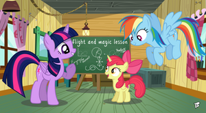 Flight And Magic Lesson - Part 1 by Brony250