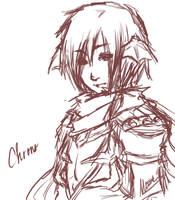 Chrono-Sinx sketch by LadyRawr