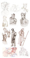 Sindh + Danta sketchdump by MeisterC