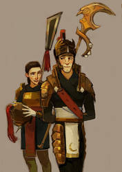 General Pitchiner + Daughter by MeisterC