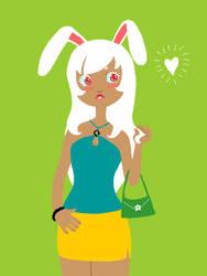 Rabbit-Girl 2 -tegaki e- by tatsku
