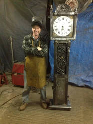 Iron Grand Father Clock by theforgery