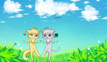 male!neko!katze X male!neko!apathy by Katze-The-Chimera