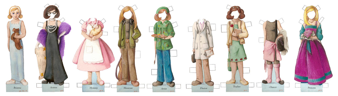 Grow-Up Paper Doll by julie-allen