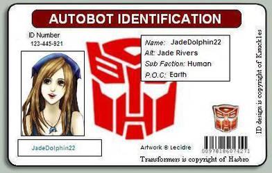JadeDolphin22s Autobot ID by JadeDolphin22