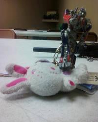 Optimus Prime vs Hello Kitty by JadeDolphin22