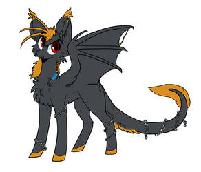 Halloween-themed Adopt #2: Chained Bat Pony (Open) by Sparkleunidog