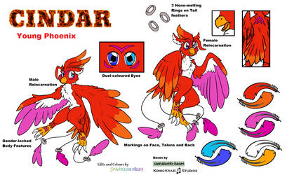Cindar Reference Sheet by Sparkleunidog