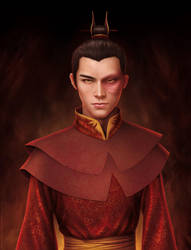 realistic painting of Zuko 1 by missbennet