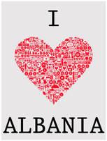 I LOVE ALBANIA by ChR1sAlbo