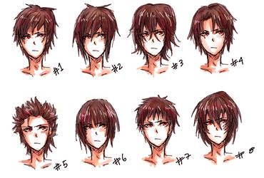 Anime hair style II by nyuhatter