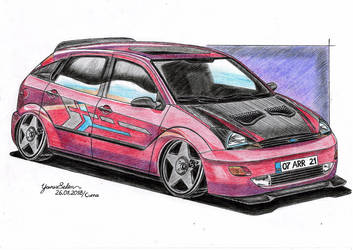 2000 Ford Focus modified drawing. by YavuzSelim07