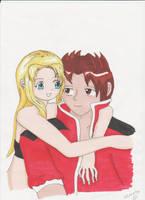Talya and elytias by manga-DH