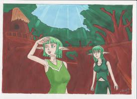 Villageforest by manga-DH