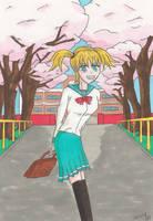 School Spring by manga-DH