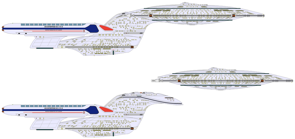 Star Trek Universe - USS Enterprise NCC-1701-D by OptimusV42