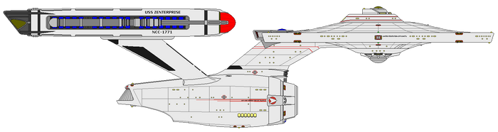 Star Trek Infinity - U.S.S. Zenterprise NCC-1771 by OptimusV42