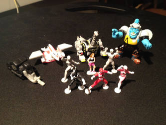 My Micro Machines Power Rangers Collection by OptimusV42