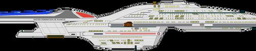 Star Trek Delta - USS Voyager NCC-74656 by OptimusV42