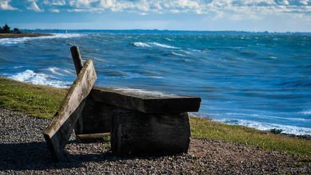 broken beach view by reuschi