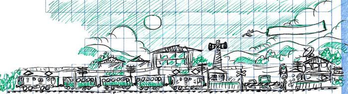 Doodle Dump 04 [Trains] by Meztli72