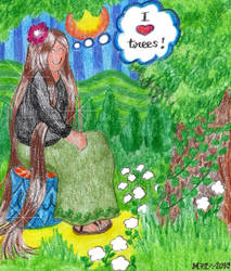 I Love Trees [Practice Doodle] by Meztli72
