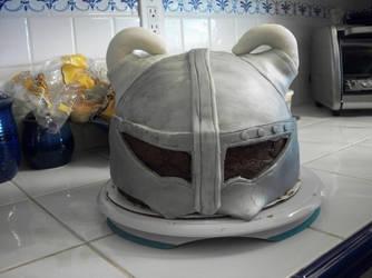 Skyrim Helm Cake by BloodWolf19