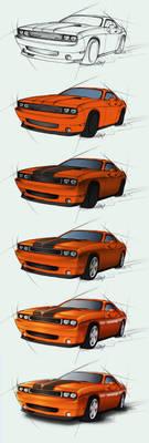 Dodge Challenger SRT - steps by Lizkay