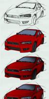 Mitsubishi Lancer - steps by Lizkay