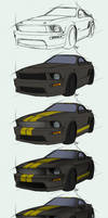 Mustang Shelby GT-H - Steps by Lizkay