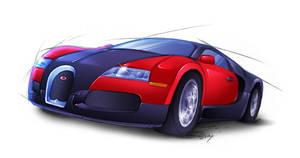 Bugatti Veyron by Lizkay