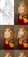 Urban Tiger Warrior - steps by Lizkay