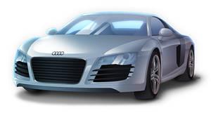 Audi R8 - Sideways by Lizkay