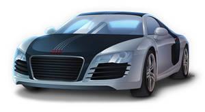 Audi R8 - Sideways 2nd Version by Lizkay