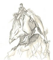 Aeladhal - Cover Sketch by Lizkay