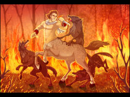 Centaur Fight by Lizkay