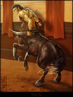 Thraex Centaur by Lizkay