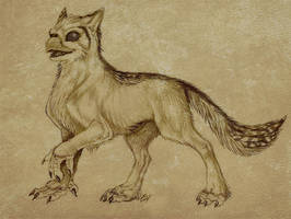 AncientStyleSketch - WolfWings by Lizkay