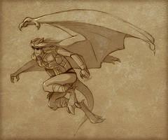 Coldmoon Gargoyle - sketch by Lizkay
