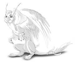 Grips - the little messenger gryphon by Lizkay