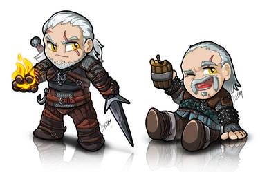 TinyWitcher - Geralt + Vesemir by Lizkay