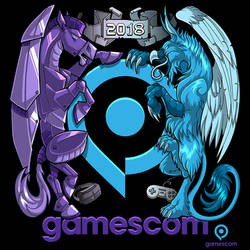 Coat of Games - Gamescom T-shirt Design by Lizkay