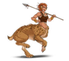 Sabertooth-Taur Female by Lizkay