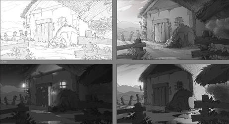 Just guarding - value study by Lizkay