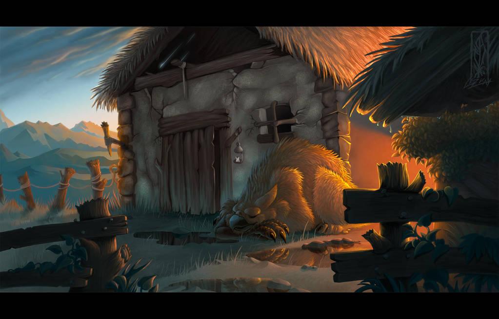 Just guarding - Dawn by Lizkay