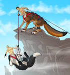 Climbing -  colored sketch commission by Lizkay