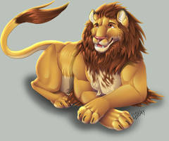 Lion - Commission by Lizkay