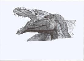 Albertosauruses by PhanerozoicWild