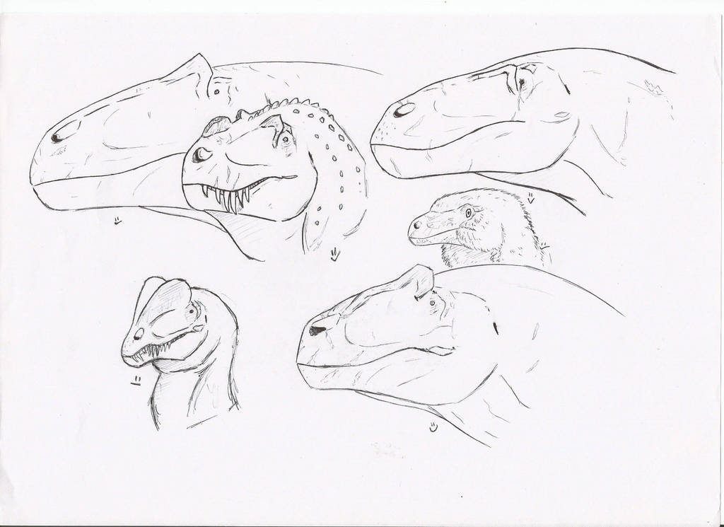 Jurassic carnivores by PhanerozoicWild